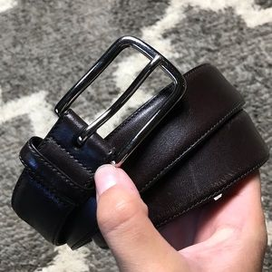 """36"""" COACH Brass Handcrafted Leather Belt"""